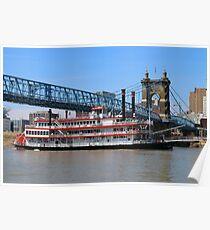 Belle of Cincinnati - Roebling Brige 2014 Poster