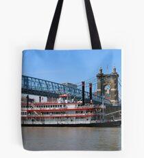 Belle of Cincinnati - Roebling Brige 2014 Tote Bag