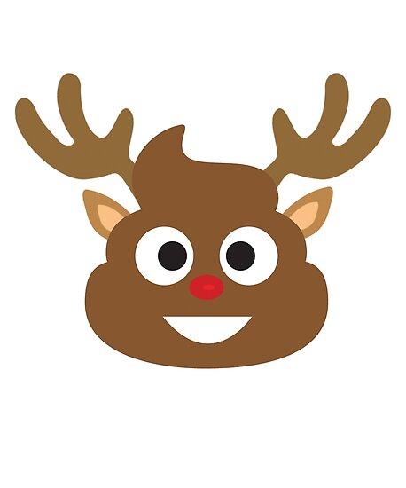 """""""Rudolph The Red Nosed Reindeer Poop Emoji"""" Poster by ..."""