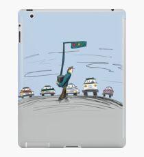 Pedestrian and It's Portable traffic light iPad Case/Skin