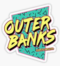 Outer Banks North Carolina Vintage Retro Sticker