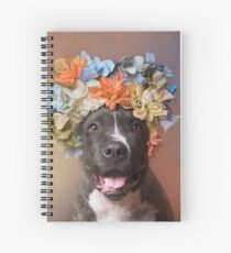 Flower Power, Angel smiling Spiral Notebook