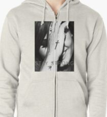 Demi Lovato Stay Strong Halftone Zipped Hoodie