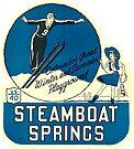 Steamboat Springs Colorado Ski Vintage Travel Decal by hilda74