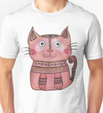 Tribal Cat  T-Shirt