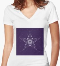 Starry Starry Night Women's Fitted V-Neck T-Shirt