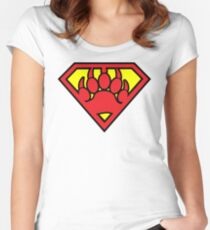 Super Bear Women's Fitted Scoop T-Shirt