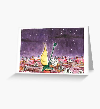 Crocodile Chimney Christmas Card Greeting Card