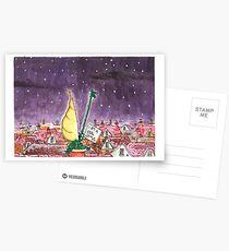 Crocodile Chimney Christmas Card Postcards