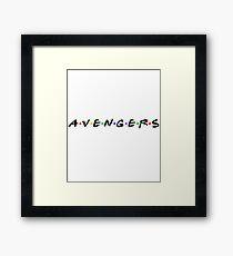 Avengers Friends Framed Print