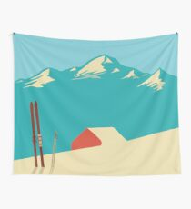 vintage mountains Wall Tapestry