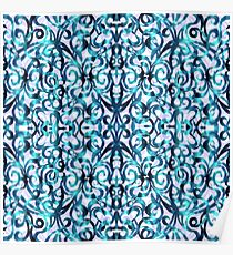 Floral Abstract Pattern G22 Poster
