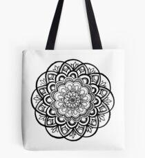 Dulce (Black and White Mandala) Tote Bag