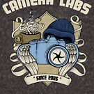 Cameralabs Photography Crest (Camera, Coffee, Beanie) by Gordon Laing