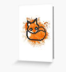 3D PIXEL - FOX Greeting Card