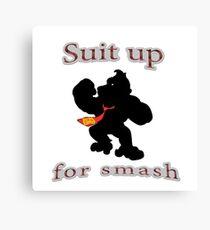 Suit up Smash Canvas Print