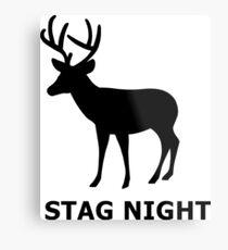 Stag Night Metal Print