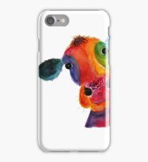 Nosey Cow ' Mr Hippy ' by Shirley MacArthur iPhone Case/Skin