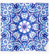 Floral Abstract Pattern Poster