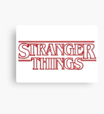 stranger things tv show horror t shirts Canvas Print