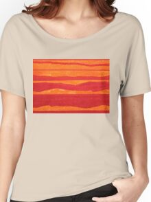 Stacked Landscapes original painting Women's Relaxed Fit T-Shirt
