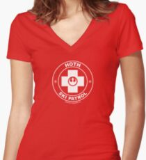 Hoth Ski Patrol Women's Fitted V-Neck T-Shirt