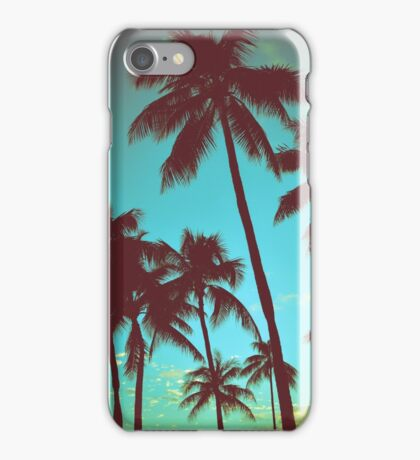 Vintage Tropical Palms iPhone Case/Skin
