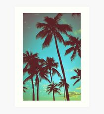 Vintage Tropical Palms Art Print