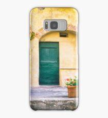 Italian facade with geraniums Samsung Galaxy Case/Skin
