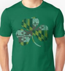 Irish Flag of Maryland Shamrock T-Shirt