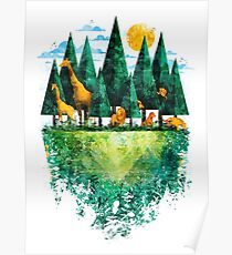Geo Forest Poster
