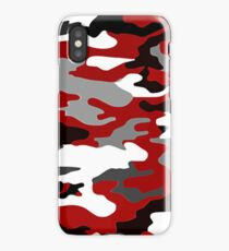 Red Camo iPhone Case/Skin