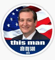 beware ted cruz Sticker