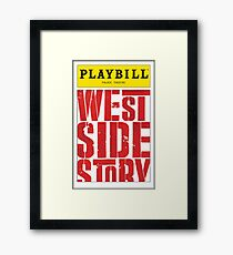 West Side Story Playbill Framed Print