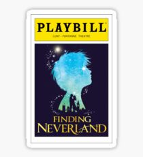 Finding Neverland Playbill Sticker
