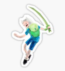 Yut! Finn the Human and the grass sword | Adventure Time Sticker