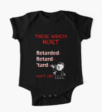 """Don't Use """"Retarded"""" One Piece - Short Sleeve"""