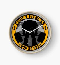Know No Fear (large badge) Clock