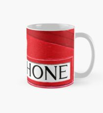 Classic Red British Phone Box Sign Mug