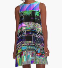 Glitch art A-Line Dress