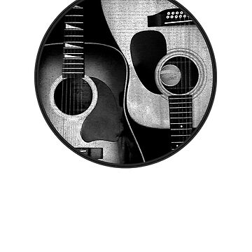 Ying Yang Gitarre Schwarz & Weiß von TheFlying6