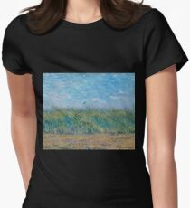 Vincent Van Gogh - Wheat Field With A Lark, 1887 Womens Fitted T-Shirt