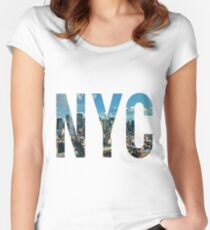 NEW YORK CITY. Women's Fitted Scoop T-Shirt