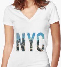 NEW YORK CITY. Women's Fitted V-Neck T-Shirt