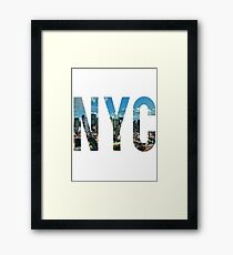 NEW YORK CITY. Framed Print