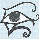 Egyptian Eye - Blue by Eliseharris