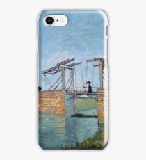 Vincent Van Gogh -  Langlois Bridge At Arles, 1888 iPhone Case/Skin