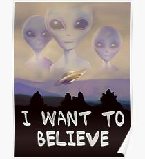 I Want To Believe Painting Poster