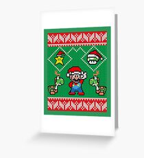 Super Mario Ugly Christmas Greeting Card