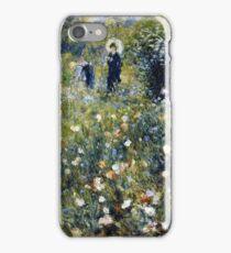 Renoir Auguste - Woman with a Parasol in a Garden (1875)  iPhone Case/Skin